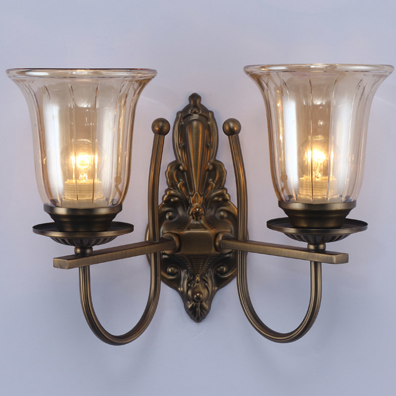 European Style Glass Lampshade Wall Sconces E27 Fashion Retro Metal Base Wall Lamp Balcony Aisle Bedroom Bedside Wall Light W296 fashion rustic iron bedroom bedside wall light fixture home deco living room e27 wall lamp european vintage glass wall sconces