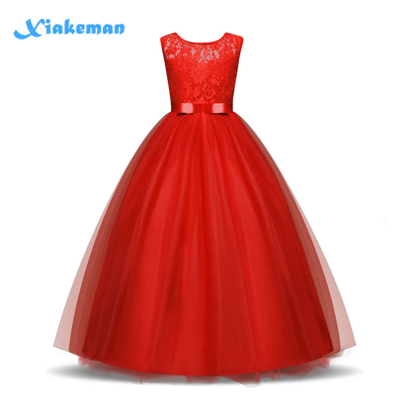 a6fd8d4f8 5-14 Years High-end Girls Wedding Party Lace Girl Dress Bridesmaid ...