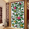 Roses Church Color Frosted Glass Foil Window Bathroom Sunscreen European Wardrobe Bathroom Sliding Door Stickers