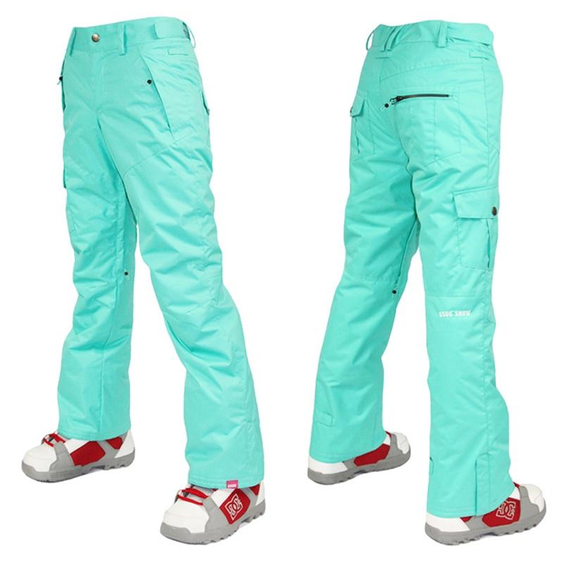 Gsou snow ski pants damen snowboard hose wasserdicht damen - Sportbekleidung und Accessoires