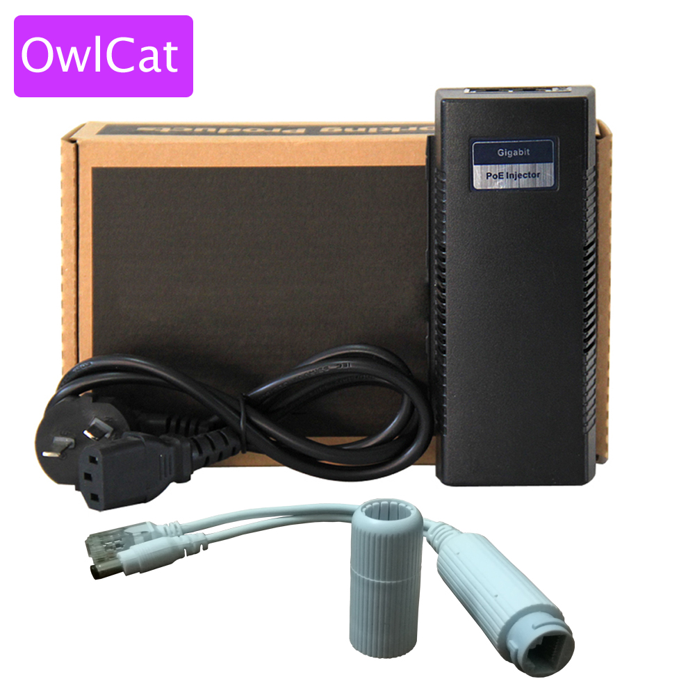 OwlCat 2 Ports Fast PSE Ethernet Switch 1 Port POE Injector 48V 30W Power over Ethernet PoE Adapter Power Supply for IP Camera цены