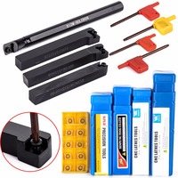 10Pcs Carbide Inserts Wrench With S12M SCLCR09 SCMCN SCLCR SCLCL1212H09 Tool Holder For Lathe Turning Tool