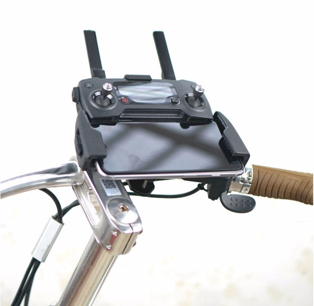 3D print Mountain Bike Bicycle Bracket Stent Mount Clip Connect Transmitter Holder for DJI SPARK font
