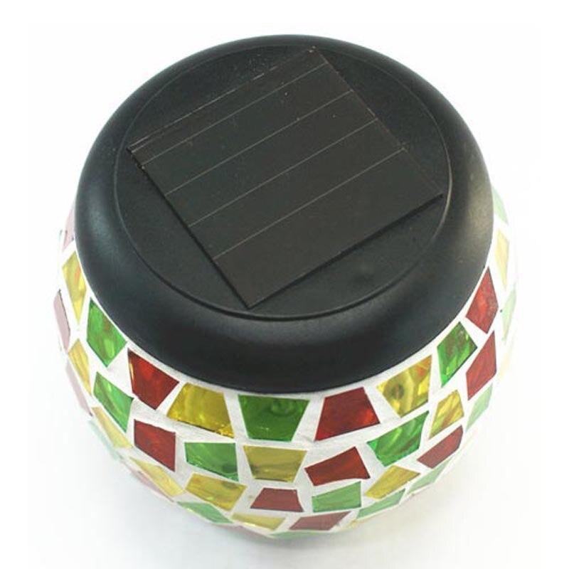 Novelty LED Glass Tank Solar Panel Table Desk Night Light Wedding Party Garland Energy Saving Garden Lamp Lighting Decoration