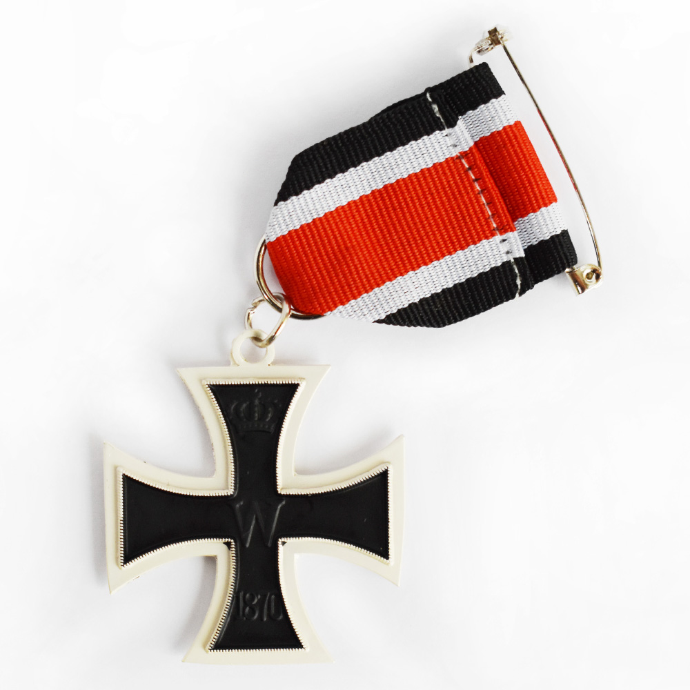 GERMAN 1813-1870 PRUSSIA IRON CROSS MEDAL 2ND CLASS BADGE WITH RIBBON-50058