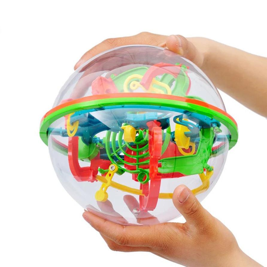 shaunyging # 4018 100 Barriers 3D Labyrinth Magic Intellect Ball Balance Maze Perplexus Puzzle Toy 3d magic coin maze ball intellect ball saving pot money box children educational toy orbit intelligence christmas new year gift