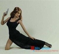 Sexy 1/6 beroemde pop kleding rvs vrouwelijke figuur rood/b lange Toga Met Hoge Splitten Fit 12 ''Action Figure Speelgoed P45
