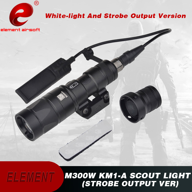 Element Airsoft Surefie M300 Tactical Flashlight Strobe Version M300W KM1 A Scout Hunting Light Weapon Gun
