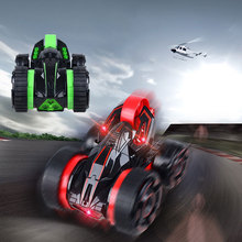 Remote Control Stunt Car Double-face Work 30km/h Rapid Roller Car All Terrian Suitable for Competition with Light @Z364