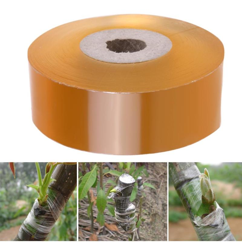 1 Roll Brown Yellow Grafting Tape Garden Tools Fruit Tree Secateurs Engraft Branch Gardening Bind Belt PE Film Tie Tape 2-3CM
