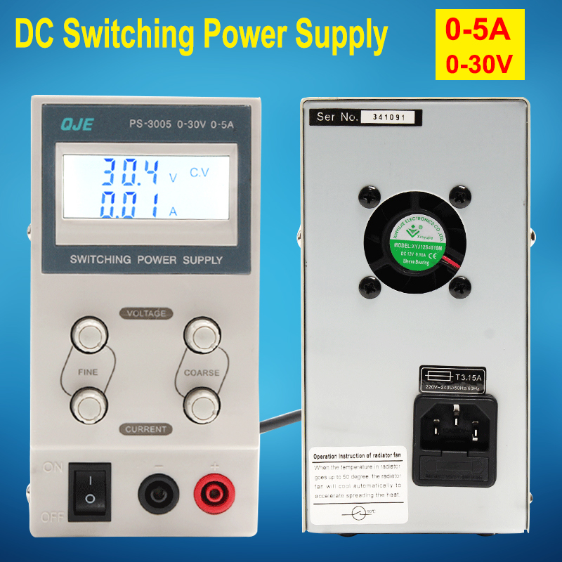 Mini 30V 5A Adjustable Laboratory Voltage Regulators Powr Supply , DC digital Power Supply use for battery charging industry dc power supply adjustable digital lithium battery charging dc power supply 30v 5a switching power supply for phone repair
