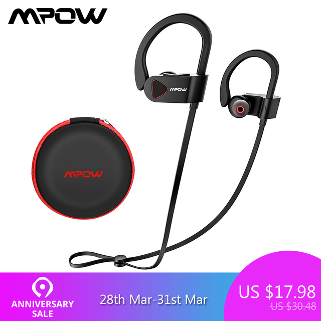 Mpow D8 Bluetooth Wireless Earphone IPX7 Structural Waterproof Sport Headphones In-Ear Earbuds With Mic For Gym PK Mpow Flame