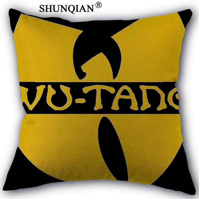ที่กำหนดเองหมอน Wu Tang ขายร้อนซิปฝ้ายผ้าลินินกรณีหมอน 45X45 ซม.ห้องนอน Home Office ตกแต่งปลอกหมอน