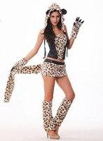 Halloween Costumes Animal Cat Woman Sexy Cosplay Leopard Grain