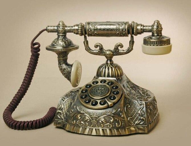 Europäischen Stil Antike Vintage Ha1932 Antikes Telefon Metall Corded Telefon Eleganter Auftritt