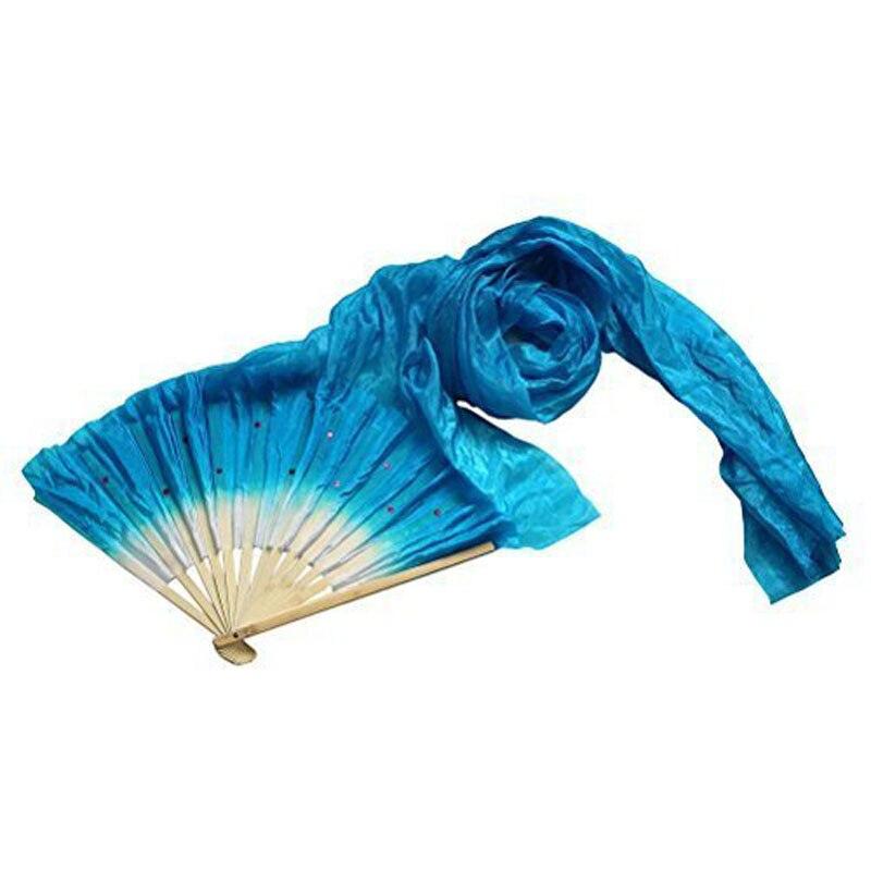 1.8m Hand Made Colorful Belly Dancing Bamboo Long Silk Fans Veils Dance Fan SSA-19ING
