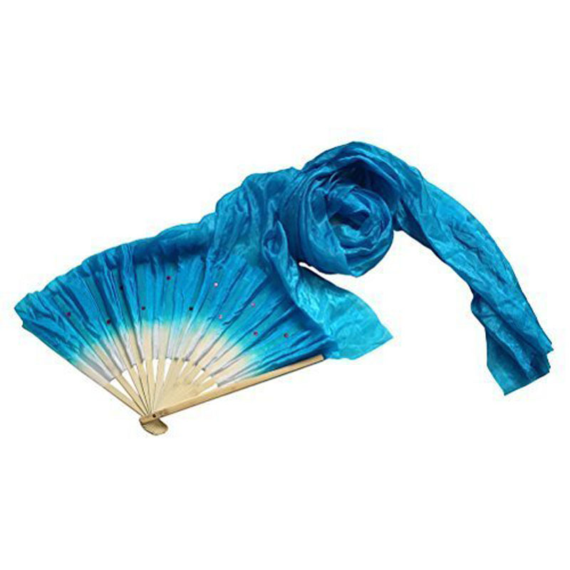 1.8m Hand Made Colorful Belly Dancing Bamboo Long Silk Fans Veils Dance Fan SSA-19ING