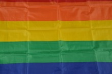 Lesbian Non-Woven Fabric Pride Rainbow Banner 10PCS lot