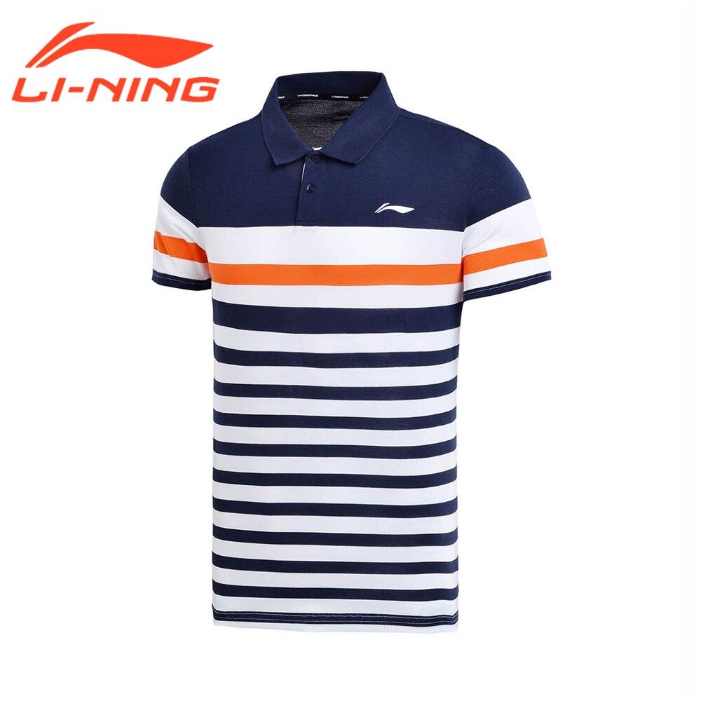 Li-Ning марка Для мужчин Бег Обучение Футболка-поло Хлопковые Топы с коротким рукавом тройник спортивной жизни внутри APLM111