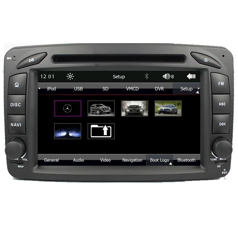 2 Din 7 Cal samochodowy odtwarzacz dvd odtwarzacz dla Mercedes/Benz/CLK/W209/W203/W168/W208/W463/W170/Vaneo/Viano/Vito/E210/C208 Canbus FM GPS BT mapa