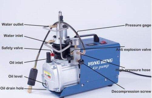 YONGHENG воздушный насос высокого давления 30mpa электрический воздушный насос высокого давления с водяным охлаждением одноцилиндровый
