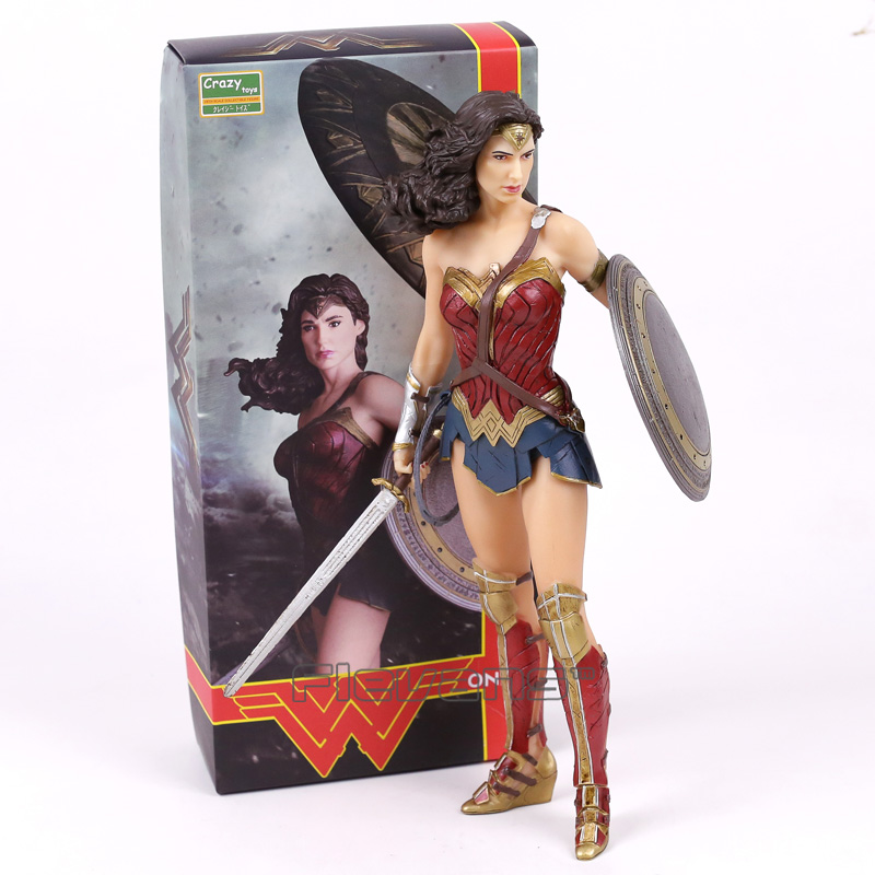 цена Crazy Toys DC COMICS Super Hero Wonder Woman 1/6 th Scale PVC Figure Collectible Model Toy 12inch 30cm в интернет-магазинах