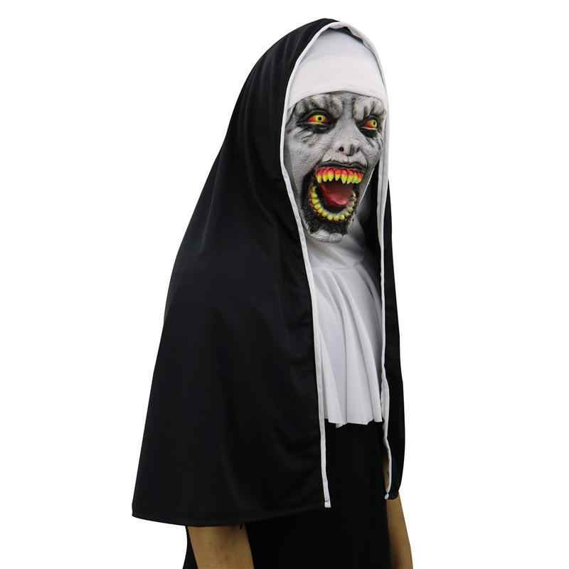 02e5aa5eabf Masquerade Mask Halloween Ghost Festival Horror Movie Scared Female Ghost  Face Cover Zombie Mask Tricky Latex Eye Mask