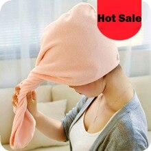 Fashion Hair Towel quick-Dry towel Drying Wrap Hat Cap Turban Turbie Twist Loop Hair Magical Hair Dryer bath Towel colorful