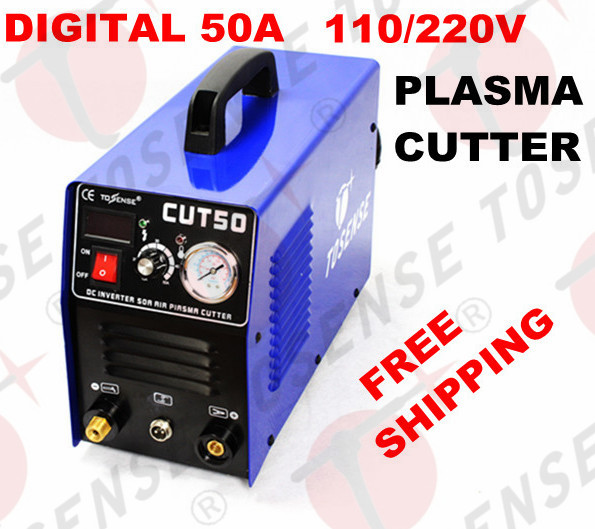 Free shipping 2016 New Plasma Cutting Machine CUT50 220V/110V dual voltage 50A Plasma Cutter With PT31 Free Welding Accessories quality assurance panasonic air plasma cutting accessories reasonable price tips plasma electrodes