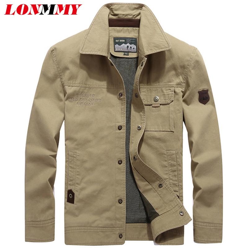 LONMMY Plus größe 4XL Bomber jacke männer Oberbekleidung