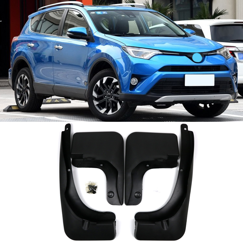 For Facelifted <font><b>Toyota</b></font> <font><b>RAV4</b></font> 2016 2017 <font><b>2018</b></font> Set Molded Car Mud Flaps Mudflaps Splash Guards Mud Flap Mudguards Fender <font><b>Accessories</b></font> image