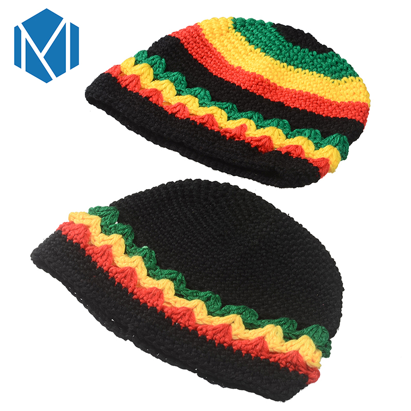 Miya Mona Jamaican Dreadlocks Reggae Hat Rasta Bob Marley Beanie Hats Hip  Hop Braids Gorro Winter ... 02b81763b2f1