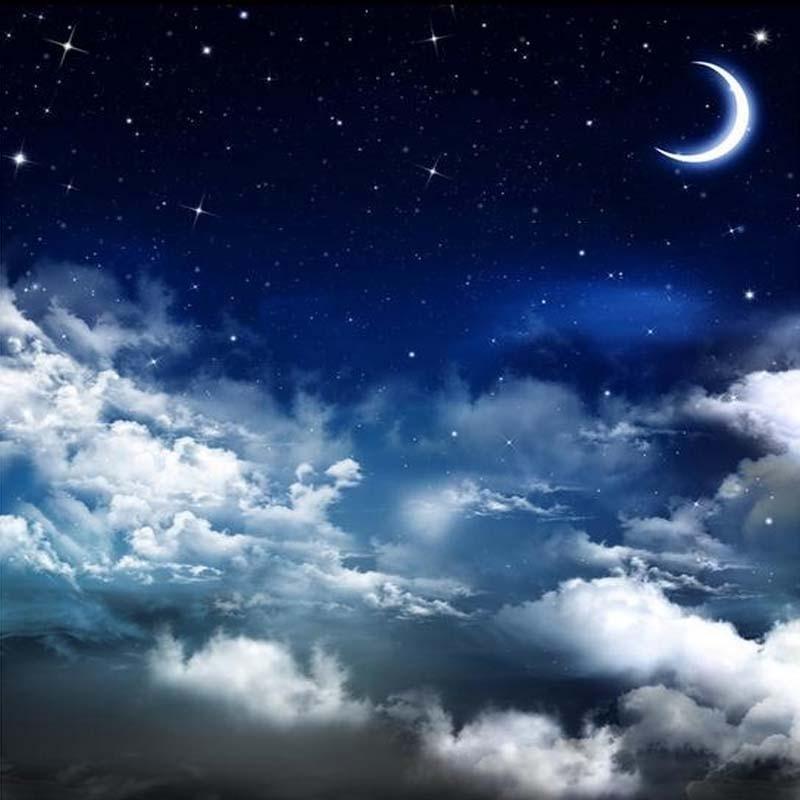Kustom 3d Langit Langit Lukisan Dinding Wallpaper Pemandangan Langit Malam Bintang Dan Bulan Restoran Hotel Pengaturan Langit Langit Kamar Dinding Dekorasi Kertas Dinding Wallpaper Aliexpress