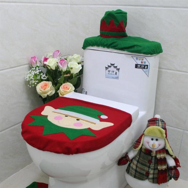 1pc Christmas Toilet Seat Cover Bathroom Decorations Single For Home E5M1