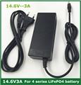 14.4 o cargador de Batería para 4S 14.6V3A 3.2 V * 4 series Batería lifepo4 con 3A corriente de carga constante