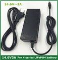 14.4 ou carregador de Bateria para 4S 14.6V3A 3.2 V * 4 series Bateria lifepo4 com 3A constante corrente de carga