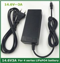 14.6V 3A LiFePO4 מטען 4 סדרת 12V 3A Lifepo4 סוללה מטען 14.4V סוללה חכם מטען עבור 4S 12V LiFePO4 סוללה