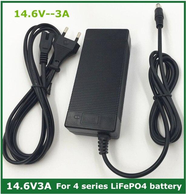14.6V 3A LiFePO4 charger 4Series 12V 3A Lifepo4 battery charger 14.4V battery smart charger For 4S 12V LiFePO4 Battery