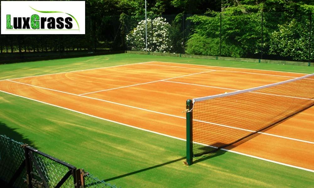 augsts elastīgums ērts dabīgā izskata tenisa korts mākslīgā zāle