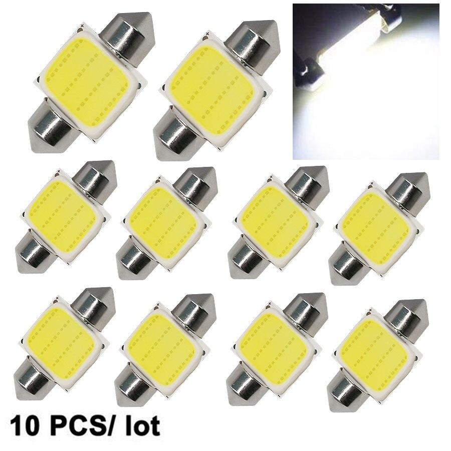 10шт купола Фестона 31 мм/36 мм/39 мм/41 мм c5w без cob светодиодный белый размер интерьер SMD лампы 12В супер яркий свет автомобиля Источник