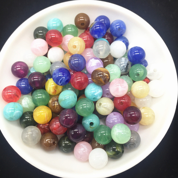Wholesale Acrylic Clouds Beads Effect Round BEADS Spacer Loose Beads Craft DIY 1