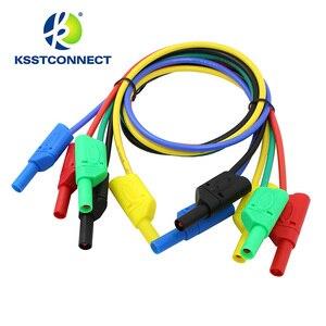 Image 3 - Fil de test en silicone flexible, de haute qualité, 13AWG, fil plaqué Nickel, fiche banane empilable, 4mm, TL440, 1.0 mètres