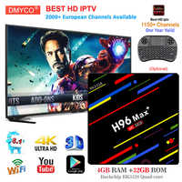 h96 max+ tv box 2018 smart android 8 1 RK3328 Quad Core 4GB RAM 32GB ROM  HDR10 USB3 0 WiFi set top box with iptv subscription