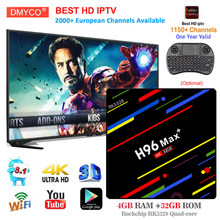 H96 max + tv box 2018 smart android 8.1 RK3328 Quad Core 4 GB RAM 32 GB ROM HDR10 USB3.0 WiFi décodeur avec abonnement iptv(China)