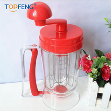 цена на TOPGENG  Baking Pastry Tools Manual Cake Batter Dispenser Pancake Machine Cupcake Cream Separator Tool Cake Dough Dispenser Mixi