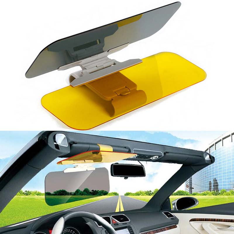 Stylish Car Sun Visor Anti Dazzling Mirror Driver Day & Night Vision Auto Summer Driving Clear View Glass Sunglasses Accessories