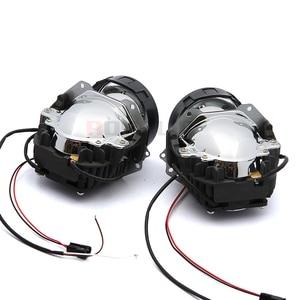 Image 5 - ROYALIN سيارة التصميم العالمي ثنائية جهاز عرض (بروجكتور) ليد المصابيح الأمامية عدسة مع رقاقة 3.0 بوصة عالية و منخفضة شعاع السيارات كشافات ضوء التحديثية