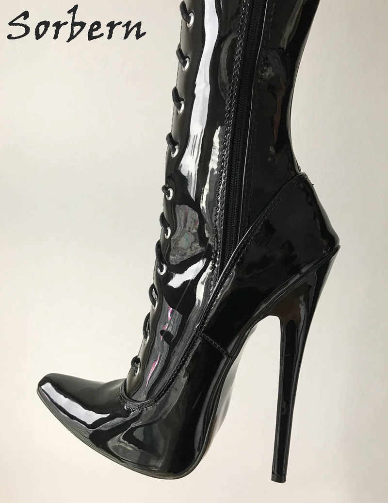 3063b9139030 ... Sorbern 80Cm Crotch Thigh High Women Boots High Heels Shoes Ladies  Custom Wide Calf Boots 18Cm ...