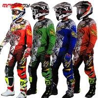 New Design Motocross Race Suit Men Big Size M 3XL 4XL Blue Green Ktm Dirt Bike Off road Clothing For Motorcycle Jersey Suit