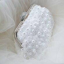 Brauttasche perle spitze stieg Hochzeit tasche Frauen handtasche kupplungen Kostenloser Versand